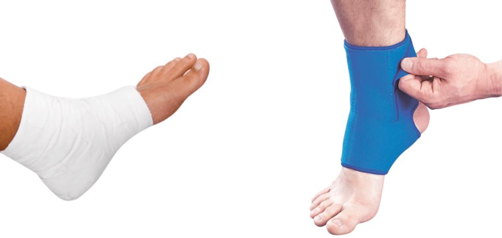 Бандаж для фиксации голеностопного сустава или гипс: что лучше?
